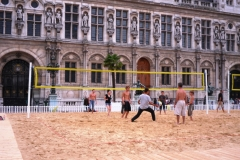 Пляжный волейбол в центре города