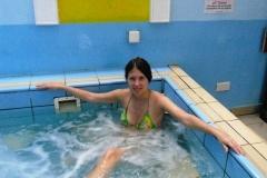 В первый день решила не рисковать и купаться только в джакузи и только внутри