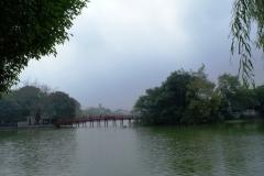 Озеро. Единственное место, где мы смогли погулять в относительной тишине