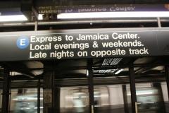 В метро все непросто... Надо внимательно читать надписи, что когда и откуда
