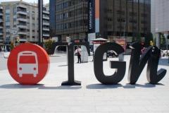 Около вокзала, в Испании такое любят