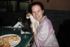 С любимой (здесь) кошкой