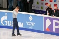 Михаил Коляда по традиции старается не слушать баллы предыдущего спортсмена