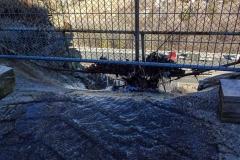 Водопад залил дорогу