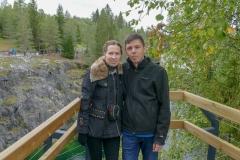 Мы со Славой на фоне карьера