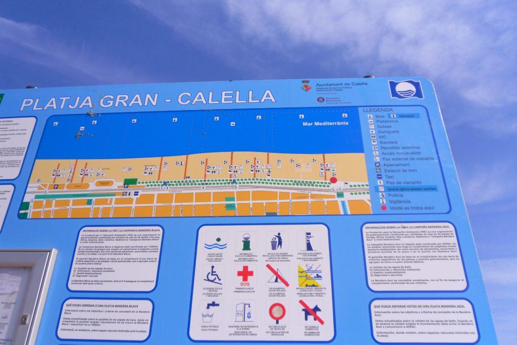Карта пляжа в Калелье