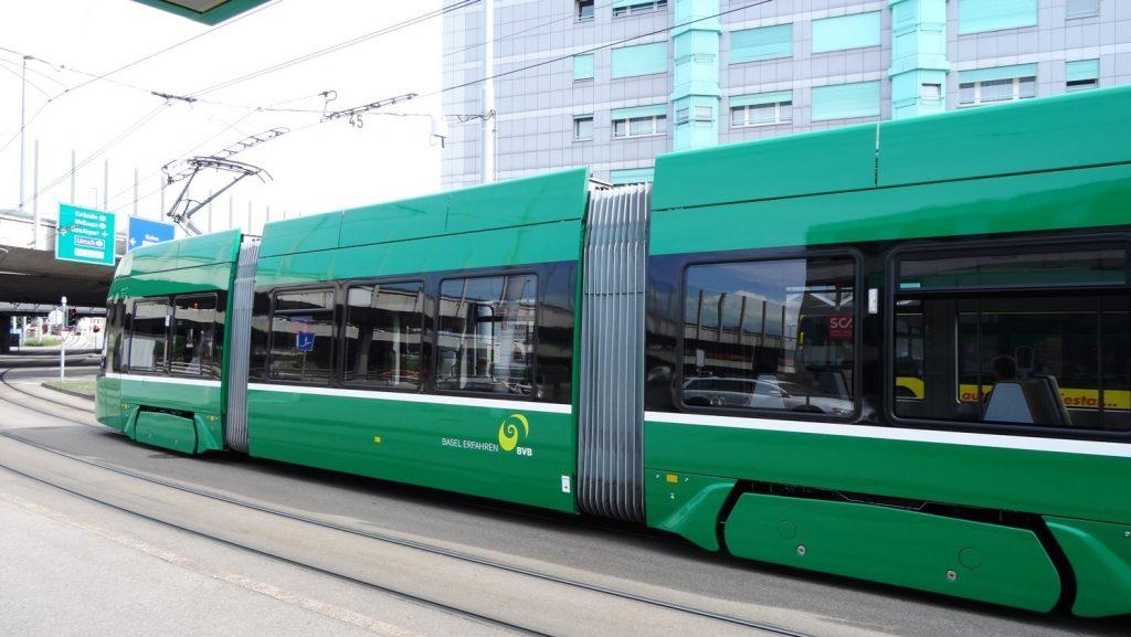 Трамваи - самый популярный вид транспорта в Базеле