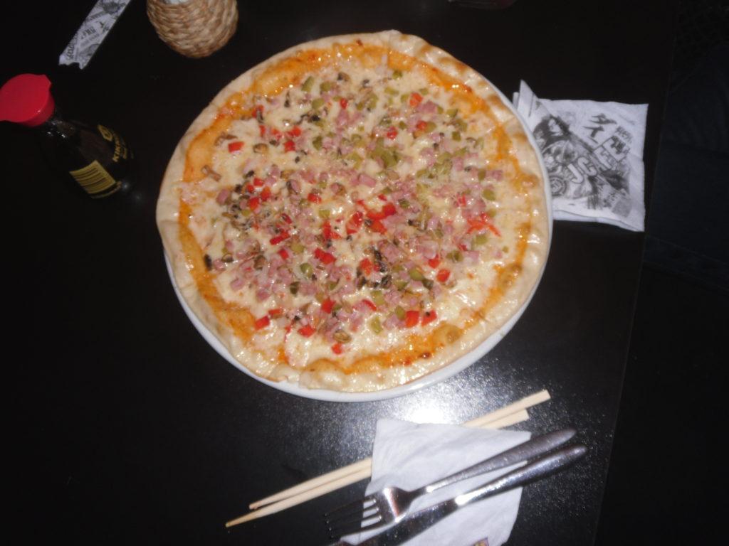 А пицца вкусная