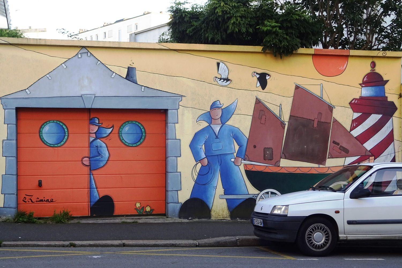 Здесь популярны граффити