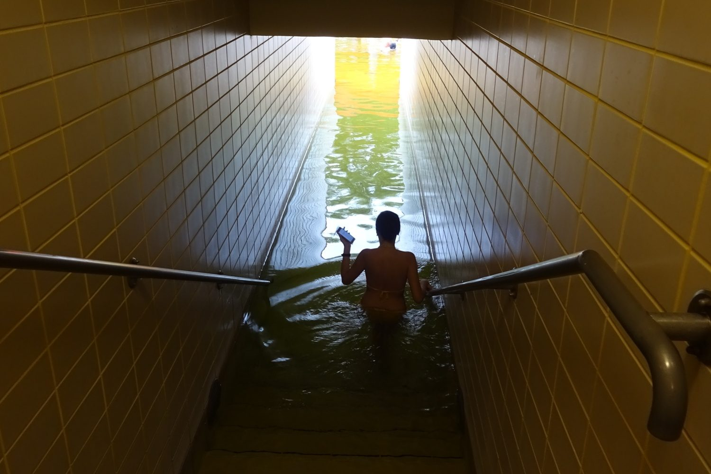 Выход в уличный бассейн