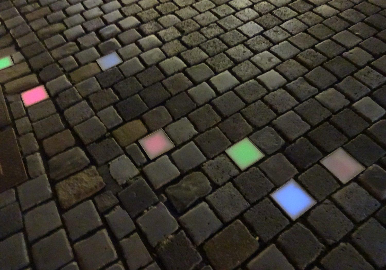 Подсветка тротуара. Люблю такую