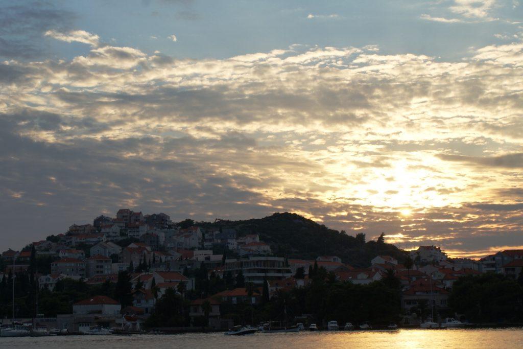 Закат в Дубровнике