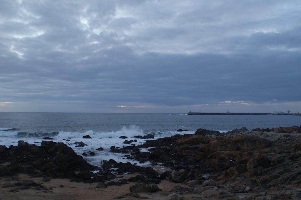 Океан вечером