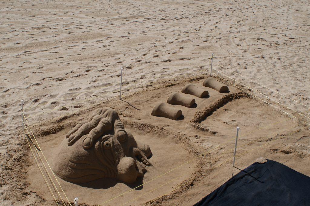 Прекрасные скульптуры из песка