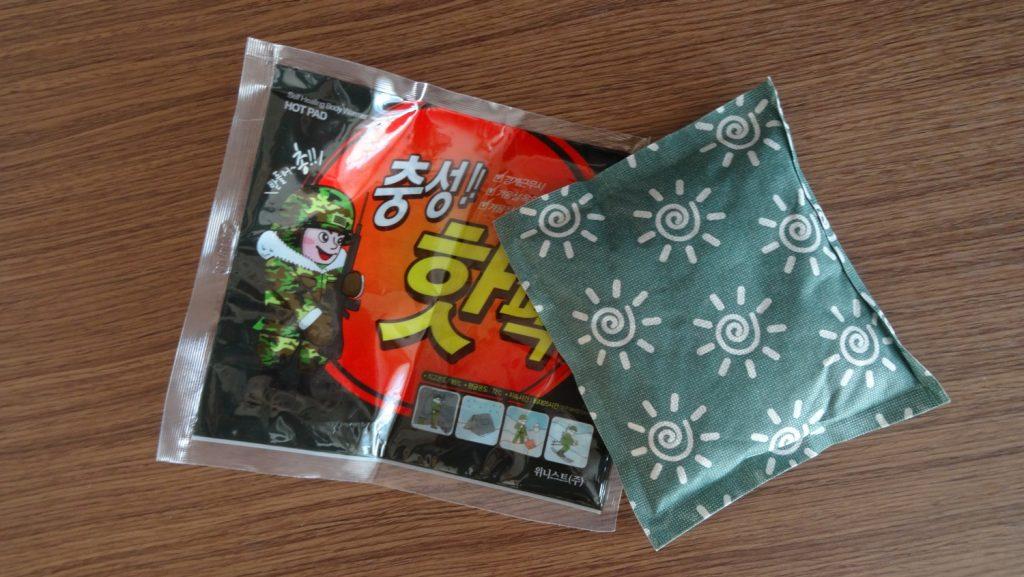 Корейцы подарили согревающий пакетик