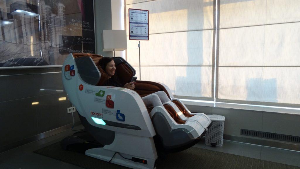 Отличный вариант отдыха - массажное кресло!