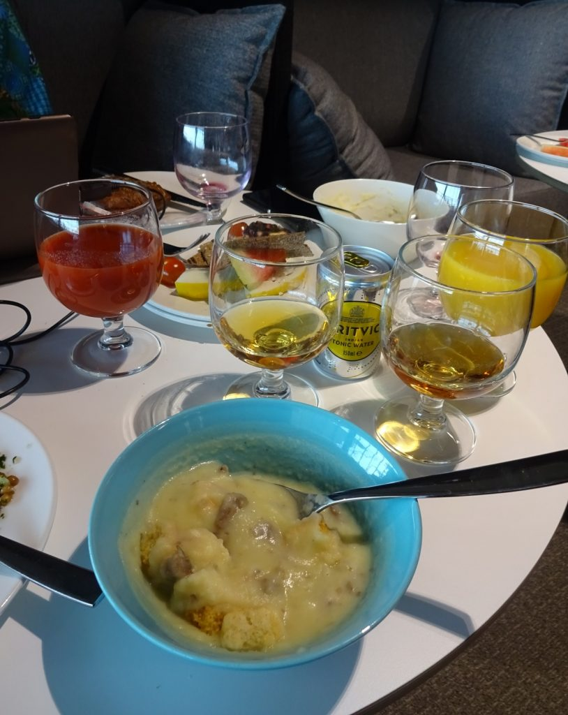 Ассортимент бизнес-зала Aspire Lounge в Хельсинки