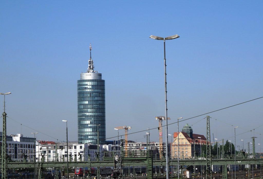 Вид на современную часть Мюнхена