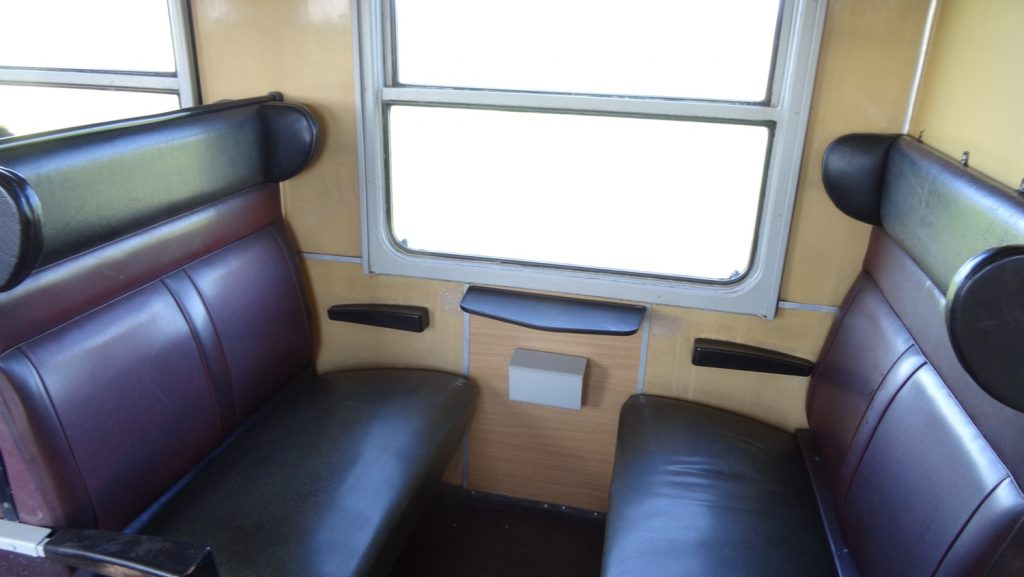 В вагоне очень удобные сиденья