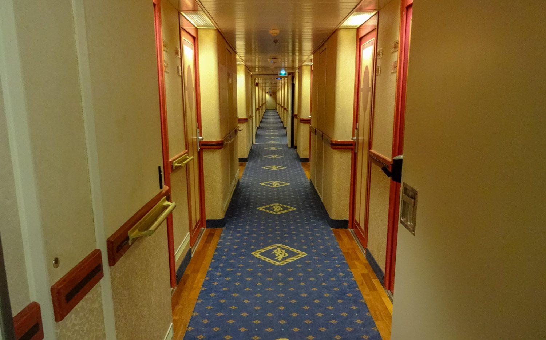 Типичный коридор на пароме