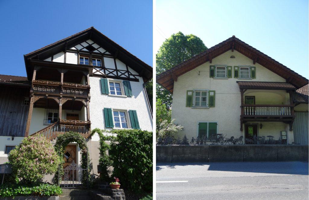 Типичные дома в Шанвальде. По-моему, крупнее-то и нет особо