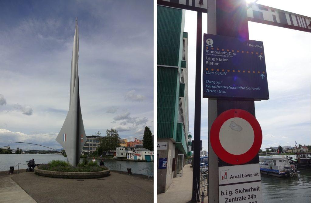 Памятник Dreiländereck и знаки в окрестностях