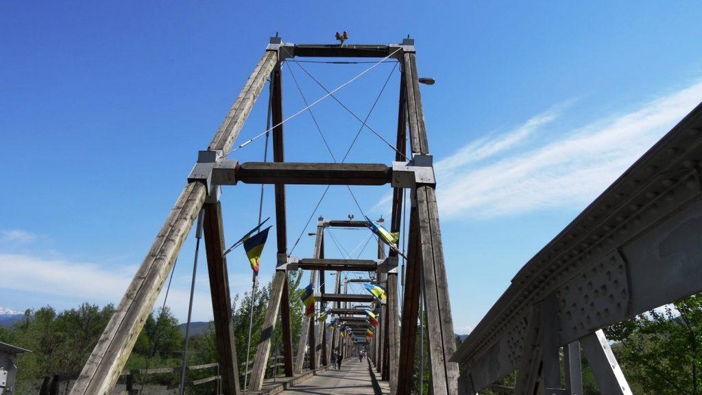 Мост на границе Украины и Румынии