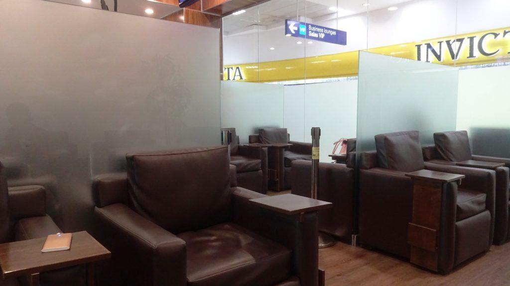 Интерьер, разграничение пространства в Mera Business Lounge