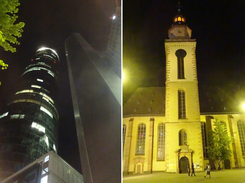 Старое и новое. Maintower (1999) и St. Katharinen Kirche (1681)