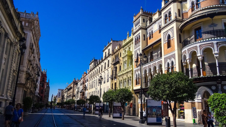 Нарядные улицы Севильи