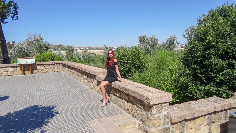 На заднем плане - Римский мост