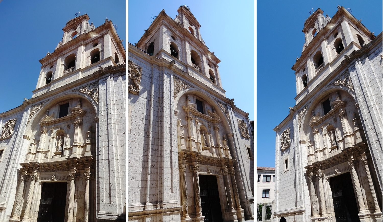 Еще одна испанская фишка - церкви, которые стоят посреди узких улиц и никак не входят в кадр