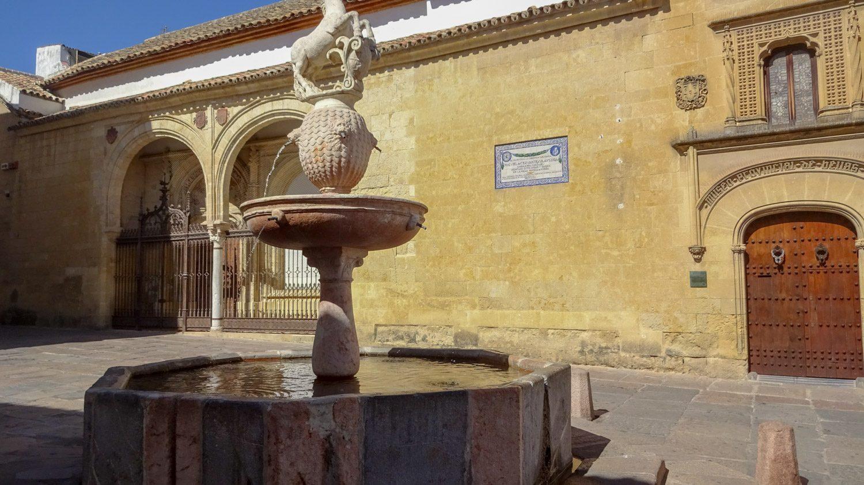 Жеребенок (без головы - на солнце не увидела) на одноименной площади Plaza del Potro