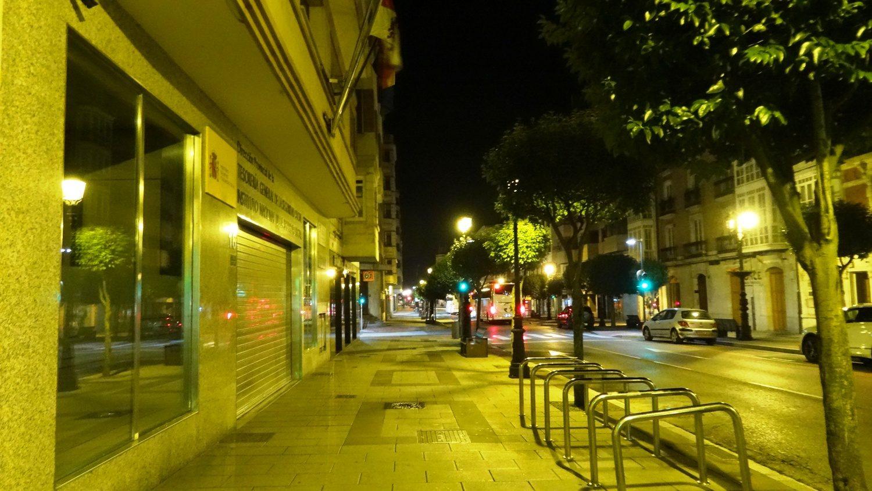 Так Бургос выглядит ночью