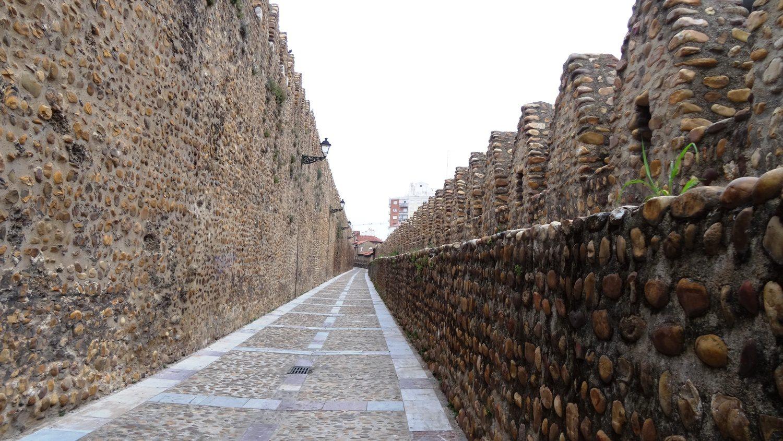 Остатки старой крепостной стены, редко такой длинный участок в центре города сохраняется