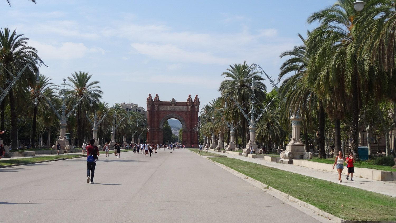 Passeig de Lluís Companys, дорога, ведущая к парку