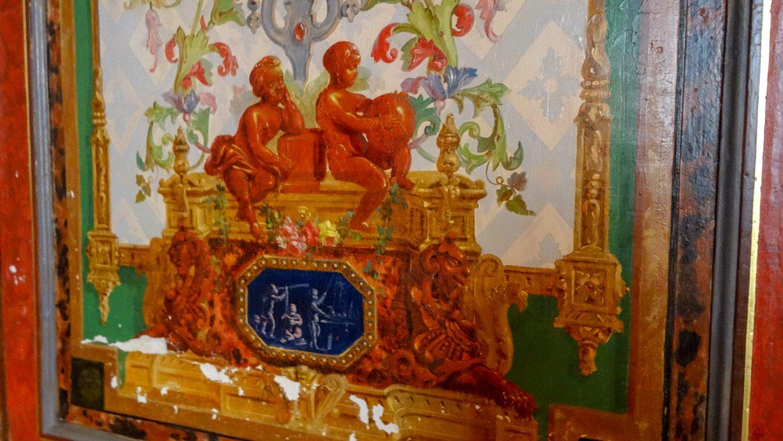 Сохранившиеся фрески...