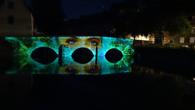 Некоторые картины движутся: эти глаза, например, моргали