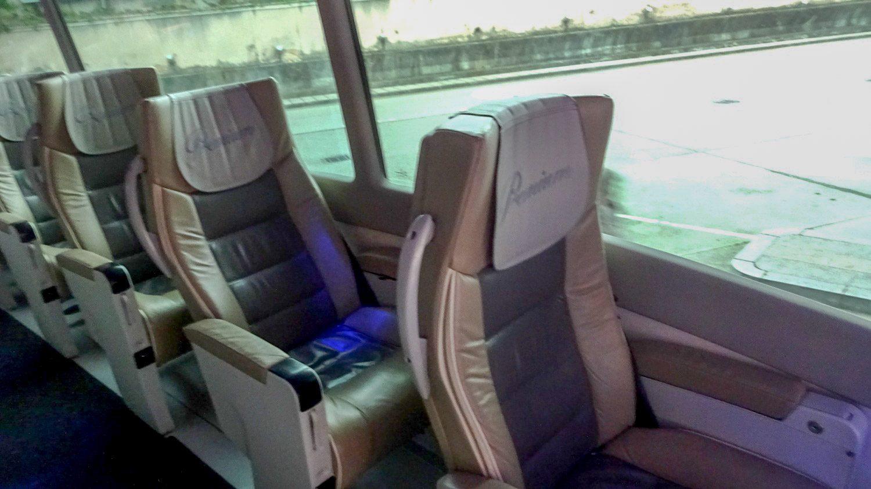 Alsa Premium. Удобные сиденья, сильно откидываются, приятный дизайн, подставки для ног регулируются