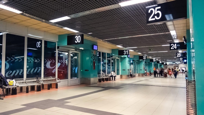 Вот такой вокзал в Мадриде: удобные пронумерованные платформы, табло, зал ожидания