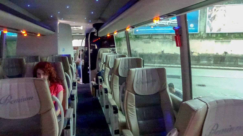 Салон автобуса класса Premium