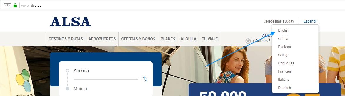 Сайт предлагает несколько языков на выбор, большинству, наверное, подойдет английский