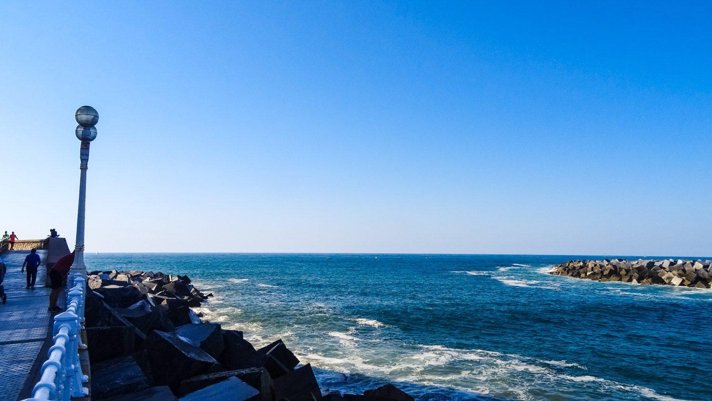 Река Урумея впадает в Бискайский залив, но из-за странностей течения вода часто как будто вливается в реку, а не вытекает в открытое пространство. Кое-где видны небольшие водовороты, а прямо посередине могут образовываться барашки волн