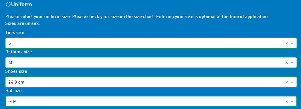 Для размеров есть таблица. По прибытии форму обычно можно померить. Помните, что в Азии часто короткие рукава и штаны, так что если сомневаетесь, какой размер указать, лучше указывайте больше