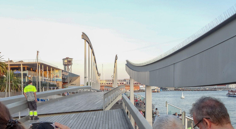 Я столько раз ходила по этому мосту и впервые заметила, что он поворачивается, давая кораблям выбраться из порта!