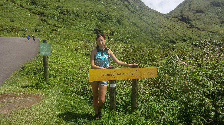 Вулкан La Soufrière расположен в западной части Гваделупы. На фото - высота 1142 метра, а максимальная - 1467