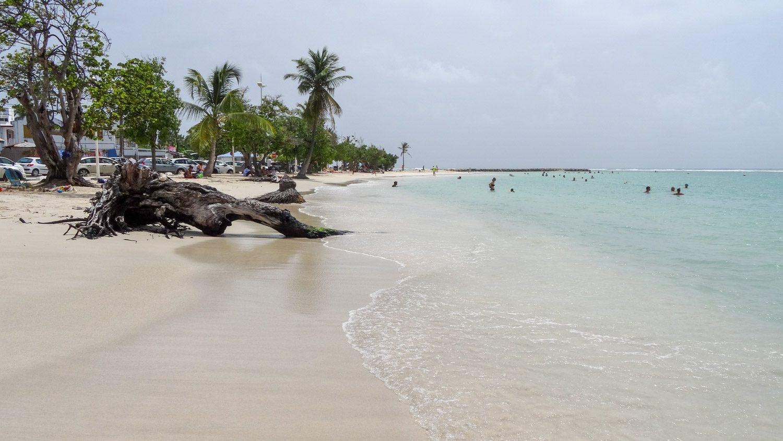 Парковочных мест мало, но пляж не забит... Многие прячутся в тени пальм, кто-то плавает, кто-то устраивает пикник...
