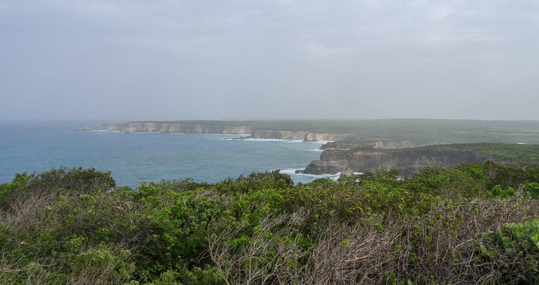 Отсюда прекрасно видна длинная изрезанная береговая линия