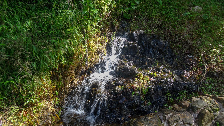 По пути встречаются небольшие ручейки и водопадики