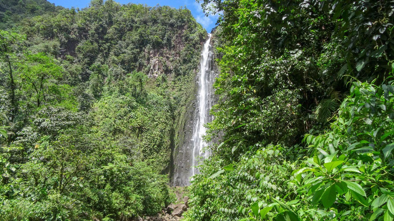 Выходим к водопаду! Тут небольшая смотровая площадка и наконец-то туристы из разных стран!